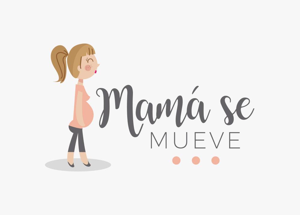 diseño logotipo mama se mueve