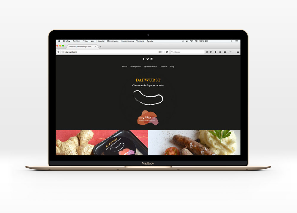 web para Dapwurst salchichas gourmet