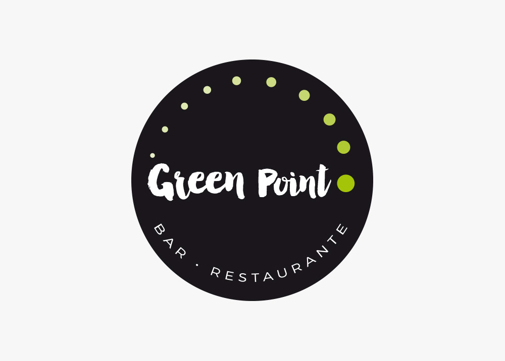 diseño logotipo green point