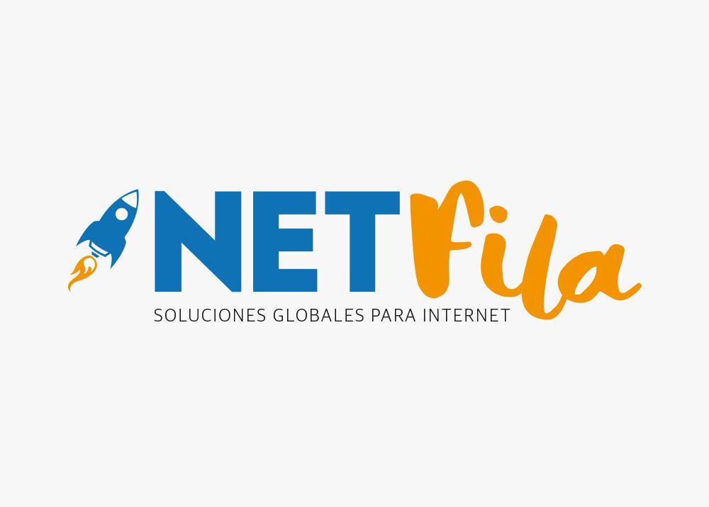 diseño logotipo netfila